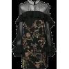 Dark Floral Dress - Dresses -