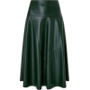 Dark Green Faux Leather Skirt - Other -