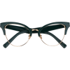 Dark Green Glasses - Eyeglasses -