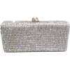 Dazzling Crystal Pave in Silver Base Eve - Clutch bags -