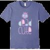 Dead Cute Purple Tee - Camisola - curta -
