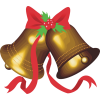 Christmas Bell Gold - イラスト -
