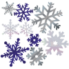 Snow Flakes Silver - Nature -