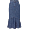 Denim Maxi Skirt - Skirts -