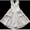 Denim Pleated Apron Dress - Vestiti -