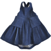Denim Pleated Apron Dress - Dresses -