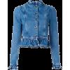 Denim Ruffle Jacket - Jacket - coats -