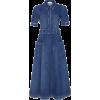 Denim Shirt Midi Dress - Dresses -