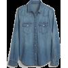 Denim Western Shirt - 長袖シャツ・ブラウス -