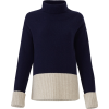 Derek Lam Turtleneck Contrast Sweater - Pullovers -
