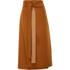 Deveaux High-Waisted Belted Wool Wrap Sk - Skirts -