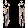 Diamante Drop Earrings - Серьги -