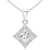 Diamond Border Dangle Pendant - Necklaces - $3,929.00