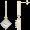 Diamond Border Drop Earrings - Necklaces - $6,649.00