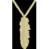 Diamond Feather Necklace, Native America - Necklaces -