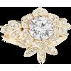 Diamond Flower Unique Engagement Ring & - Rings -