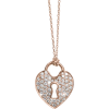 Diamond Heart Locket Necklace, 14K White - Collares -