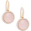 Diamond Pink Quartz 18k Rose Gold - Kolczyki -