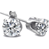 Diamond Stud Earrings - Earrings -