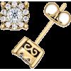 Diamond Stud Earrings - Aretes -