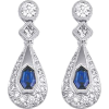 Diamond and sapphire earrings - Kolczyki -