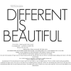 Different is Beautiful text phrase - Texts -