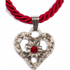 Dirndl Cord necklace heart with stone, c - Ogrlice - £15.99  ~ 18.07€