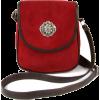 Dirndl Shoulder bag Ramona in suede red - Messenger bags - £44.99  ~ $59.20