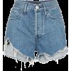 Distressed denim shorts - Shorts -