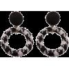 Dogtooth hoop earrings - Earrings -