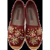 Dolce & Gabbana Burgundy Espadrilles - Flats -
