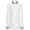 Dolce & Gabbana Embellished Poplin Top - Long sleeves shirts -