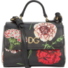 Dolce & Gabbana Leather Floral-Print Cro - Hand bag -