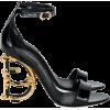 Dolce & Gabbana Patent Leather Sandals - Sandals -