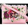 Dolce & Gabbana Pink Floral Rhinestone L - Kleine Taschen -
