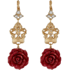 Dolce & Gabbana Rose and Crown Earrings - Earrings -