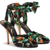 Dolce & Gabbana TWILL SANDALS WITH BIRD - Sandale -