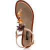 Dolce & Gabbana Womens Embossed Leath - Sandals -