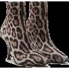 Dolce & gabbana LEO PRINT JERSEY ANKLE B - Boots -