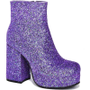 DollsKill Purple Glitter Boots - Boots -