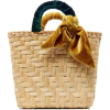 Donni Charm M'O Straw and Velvet bag - Hand bag -