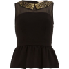 Dorothy Perkins Black studded peplum top - Tanks -