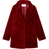 Double-breasted fuzzy coat - Chaquetas -