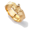 Dovinia Yellow Gold Ring with Diamond - - Aneis -