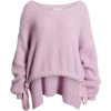 Drawstring Hem Sweater J.O.A. - Pullovers -