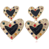 Dual Black Hearts Design Women Earrings - Naušnice - $1.68  ~ 10,67kn