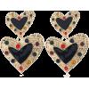 Dual Black Hearts Design Women Earrings - Aretes - $1.68  ~ 1.44€