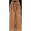 Dunn Vegan-Leather Detailed Wide-Leg Cot - Spodnie Capri -