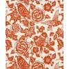 Duralee Aviary Tangerine Fabric - Ilustracije -