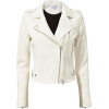 Dylan White Leather Moto Jacket - Jacket - coats - $1,295.00